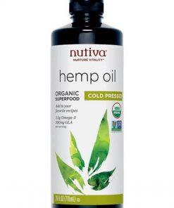 Dầu gai dầu ép lạnh hữu cơ Nutiva 3