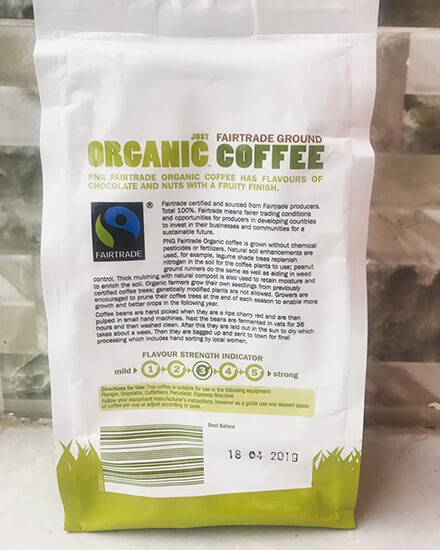 Ca phe huu co Uc Just Organic Coffee 1
