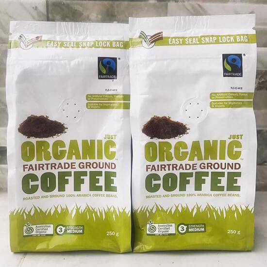 Ca phe huu co Uc Just Organic Coffee 2